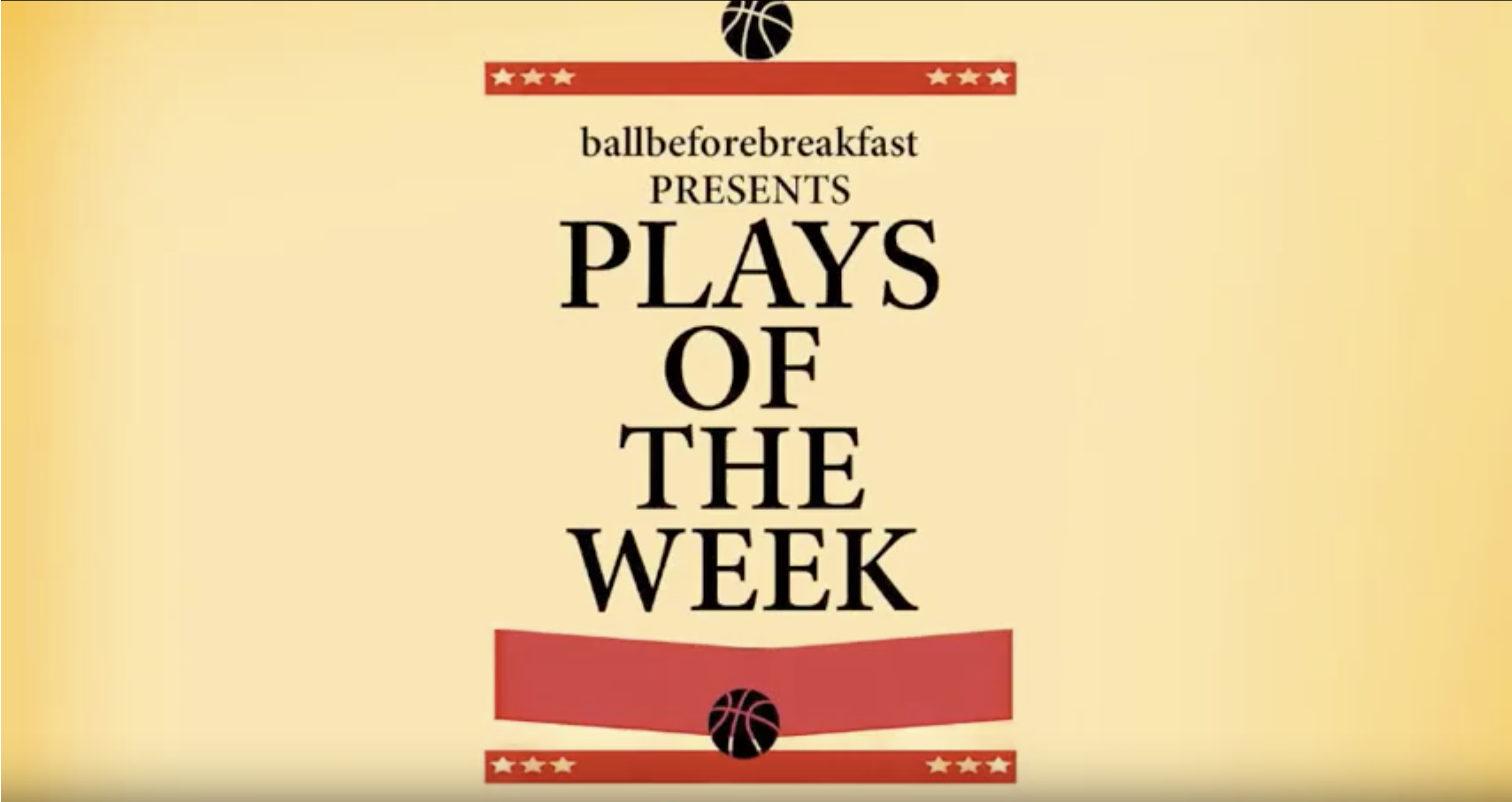 Plays of the week 11.2